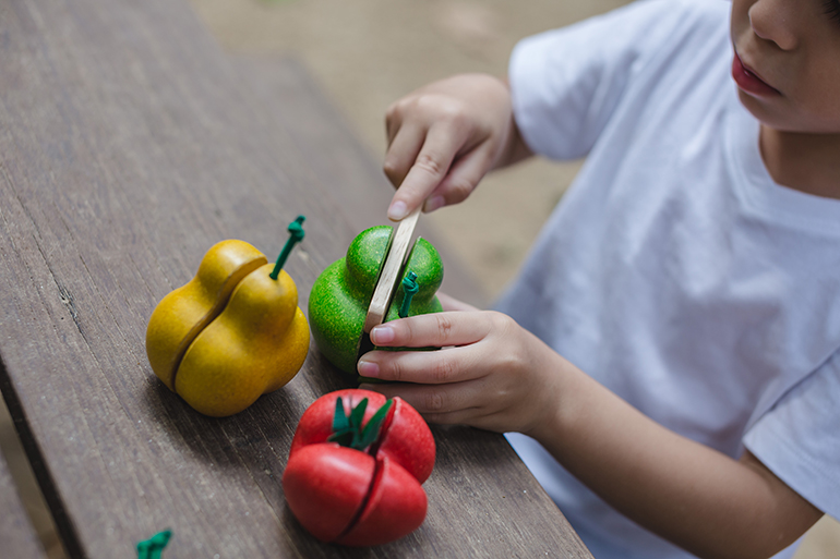 wonky fruit and vegetable toys